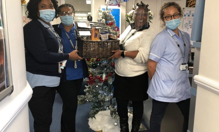 Ex-patients spoil the addiction unit team at Nightingale Hospital